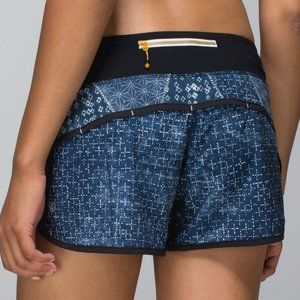 RARE Lululemon Speed Short in Sashiko Ghost Blue